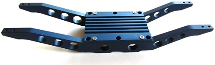 RC Raven E-Maxx 3903 or 3908 Blue anodized aluminum bottom braces With free center skid
