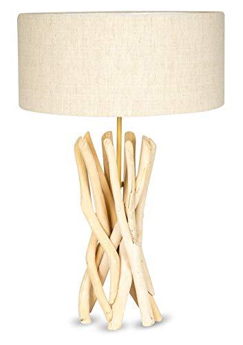 Lampe Stehlampe 62cm Hoch Holz Holzlampe Unikat Braun Treibholz Handarbeit Stehleuchte Treibholzlampe Leuchte
