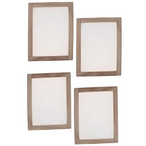 4 pezzi per la fabbricazione della carta da parati tradizionale stampo in legno strumento per la creazione di carta per bambini e adulti fai da te fai da te (19 x 25 cm)