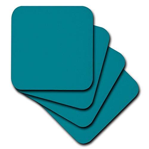 3drose CST 159850 3 uni blauw blauw blauw blauw groen Simple Moderne Solid één kleur turquoise groen keramische tegels onderzetters (set van 4)