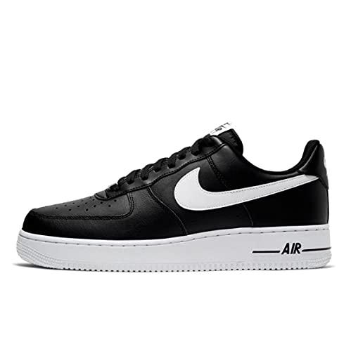 Nike AIR FORCE 1 AN20 (GS), Boy's Basketball Shoe, Black White, 6 UK (39 EU)