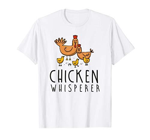 Chicken Whisperer Farm Gift Farmer Hen Rooster Poultry Eggs T-Shirt