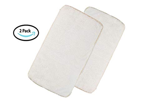 Pet Kennel Pads Pack of 2 Soft Replacement Inserts for Pet Travel Carriers & Pet Beds Highly Absorbent Liners for Sleeping & Traveling Washable Padded Covers for Cats & Dogs (White 2 Pack)