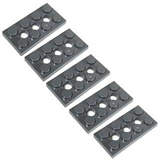 LEGOブロック・純正パーツ<テクニック・プレート>2 x 4 with 3 Holes (5個, Dark Bluish Gray) [並行輸入品]