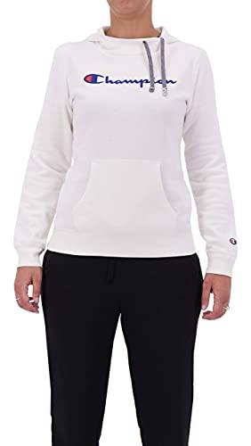 Champion Damska bluza z kapturem Classic Logo, biały, M
