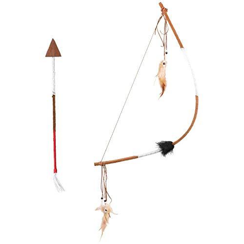 Boland Arco y flecha deluxe, longitud 61 cm y 35 cm, juego autntico, indios, salvaje oeste, guerrero, vaquero, disfraz, carnaval, fiesta temtica