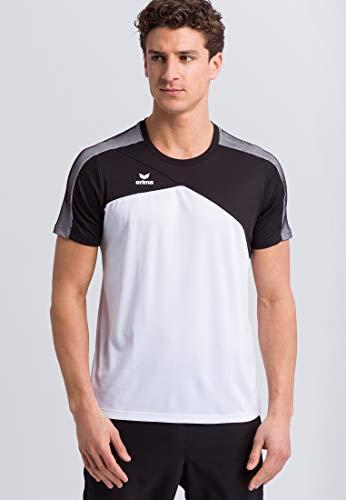 Erima 1081803 T-Shirt Blanc/Noir/Blanc FR : 2XL (Taille Fabricant : XXL)