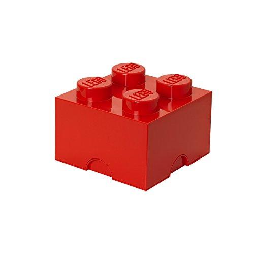 Lego Storage Brick 4 Medium Red