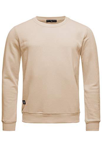 Red Bridge Herren Crewneck Sweatshirt Pullover Premium Basic,Beige-ii,M