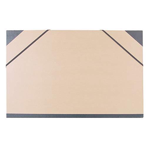 Clairefontaine 44100C - Un carton à dessin fermeture élastiques 32x45 cm, Kraft brun