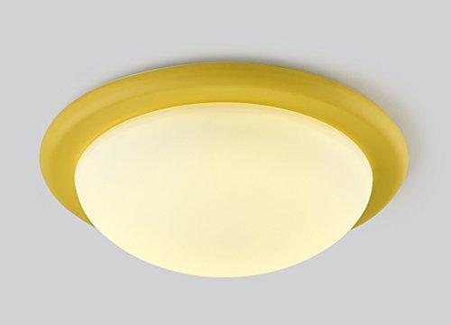 Home mall- 18 W LED Plafonnier Moderne Mode Salon Chambre Chambre Cuisine Corridor Chambre Pour Enfants Neutre Lumière Lumière (Couleur : Le jaune)