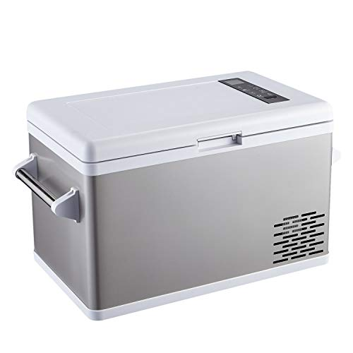 Ausranvik 37 Quart Portable Fridge Car Refrigerator Car Fridge Car Freezer -4°F ~ 68°F - 12V/24V DC Compressor Touch Screen for Car, Camping, Boat, Road Trip and Outdoor Activities.
