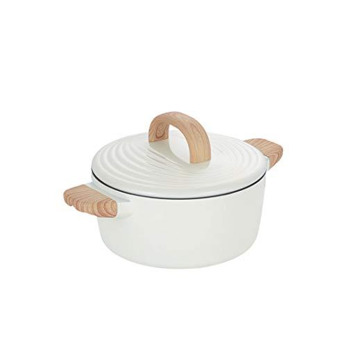 CJTMY Sopa de Olla Antiadherente Cacerola con Tapa de Aluminio Fundido, la Serie del Anillo Anual, Inferior, posición apropiada en la Placa de Cocina Todos