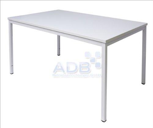 ADB Konferenztisch/Universaltisch / Schreibtisch/Bürotisch / Besprechnungstisch, 120x80x76 cm, Lichtgrau, Hergestellt in der EU, Melaminbeschichtete...