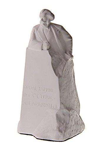 Deutscher Philosoph Sozialist Karl Marx Marmor Büste Statue Skulptur 15 cm weiß