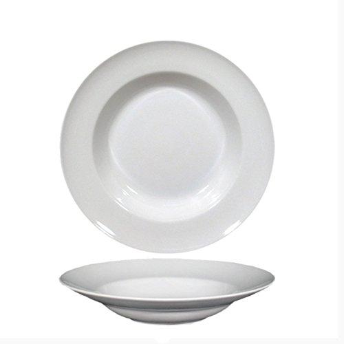Saturnia Service de 6 assiettes fonds Pasta Bowl en porcelaine blanche série Napoli x2300;30cm h.6cm