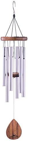 UpBlend Outdoors Wind Chime The Classic Silver Havasu is 28 Total Length Hand Tuned and Beautiful product image