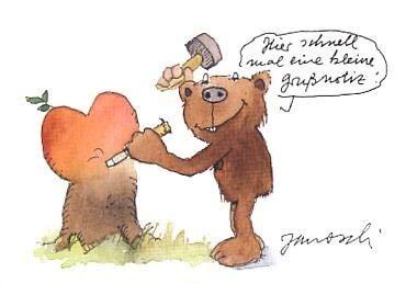 Janosch-Postkarte Grußnotiz