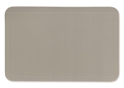 kela Tisch-Set Uni 43,5x28,5cm aus PVC in grau, Kunststoff, 43.5 x 28.5 x 1 cm