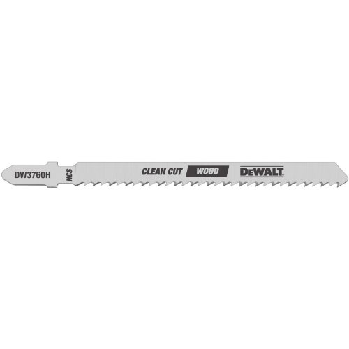 DEWALT DW3760H 4-Inch 10TPI Fine Finish Wood Cut HSC T-Shank Jig Saw Blade (5-Pack)