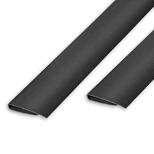 Ribelli PVC Abschlussleisten Abdeckprofil Bedeckung Profile Sichtschutzmatte Sichtschutzzaun Sichtschutz Zaun Balkon Windschutz (1000 cm (10 x 100 cm), Abdeckprofil Anthrazit)