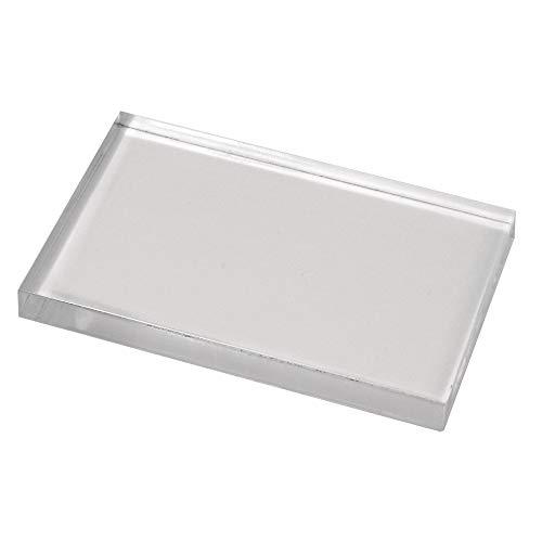 """Rayher 28876000 bloc acrylique pour tampon en caoutchouc et en silicone €"""" accessoire scrapbooking pour bien positionner ses tampons €"""" plaque acrylique 125 x 172 x 12 mm sous blister €"""" gris"""