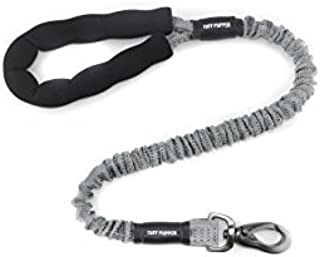 Heavy Duty Bungee Dog Leash by Tuff Pupper   Comfortable Neoprene Handle   Zinc Alloy Hardware   Perfect Training Lead for Medium to Large Dogs