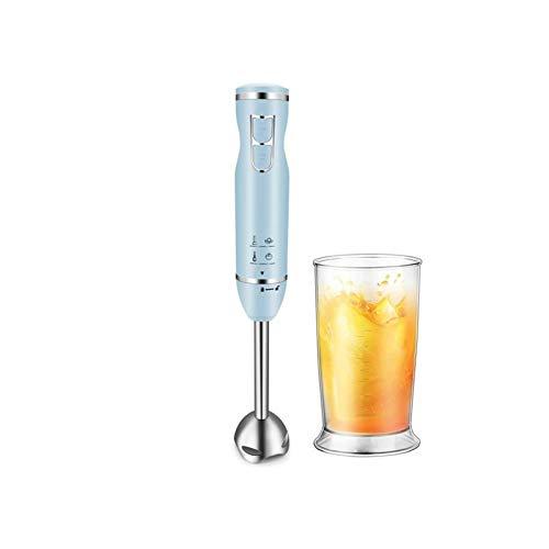 HUIXINLIANG Blender Mano de inmersión multifunción de 400W 5-en-1, Blender Stick con motor de cobre pesado Cepillado 304 Acero inoxidable, vaso de precipitados de 600 ml para puré de alimentos infanti
