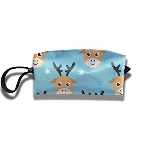 Bbhappiness Pouch Handbag Cosmetics Bag Case Purse Travel & Home Portable Make-up Receive Bag Baby Deer Snow