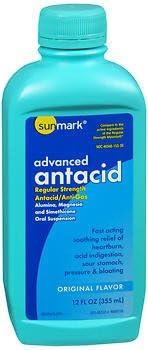 Sunmark Animer and price revision Advanced Antacid latest Liquid Original Regular Flavor Strength
