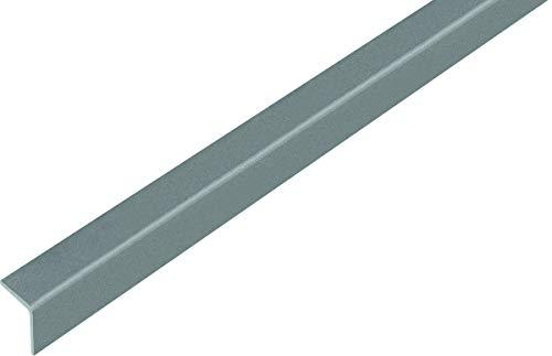 GAH-Alberts 432928 Winkelprofil | selbstklebend | Kunststoff, grau metallic | 1000 x 20 x 20 mm