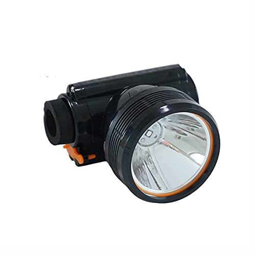 ANLONGLI Lámparas mineras de Alto Brillo LED Lámparas mineras 80W IP67 Trabajo A Prueba de Agua Lámpara de Cabeza Recargable para Acampar,Cool White