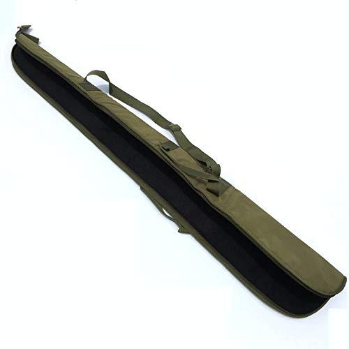 Beho 52インチ600D CSオックスフォードメンズハンティング釣りロッドロングガンショルダーバッグケースストーンガンアクセサリー - ブラック