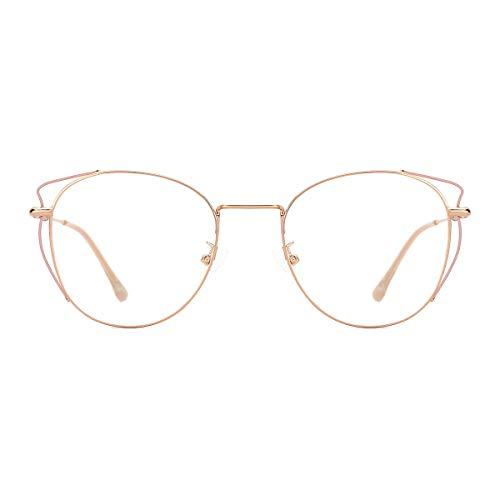 TIJN Blue Light Blocking Computer Eyewear Frame Metal Design Eyeglasses for Women