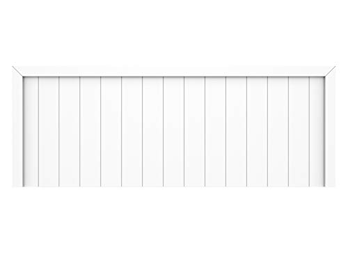 LA WEB DEL COLCHON - Cabecero de Madera Rústico Véneto para Cama de 135 (145 x 55 cms) Blanco nórdico | Cabeceros Madera | Dormitorio Matrimonio | Cabezal Cama |Estilo nórdico