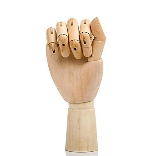 NAMYA Manichino Manichino in legno articolato flessibile con dita articolate, 17,8 cm 25,4 cm 30,5 cm, colore legno (mano destra o sinistra), Non null, Come da immagine, 10 inches right hand