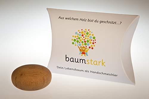Baumstark Ulme 45mm mit Baumhoroskop (12.1. -24.1 und 15.7-25.7.) Handschmeichler, Holz, 8 x 11.5 x 2.8 cm