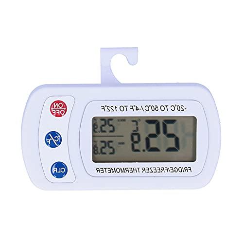 Surebuy Refrigerador, IPX3, Amplio Rango de medición de Alta precisión, Gran Pantalla LCD para refrigeradores para restaurantes