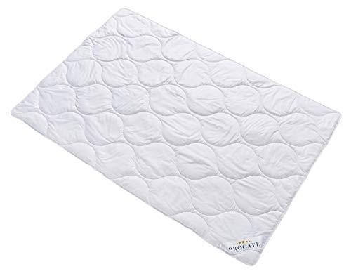 PROCAVE Baumwolle Komfort Qualitäts-Bettdecke für den Sommer 135x200cm, leichte Baumwolldecke, waschbar, aus der Natur, atmungsaktiv & wärmeausgleichend, 100% aus Deutschland