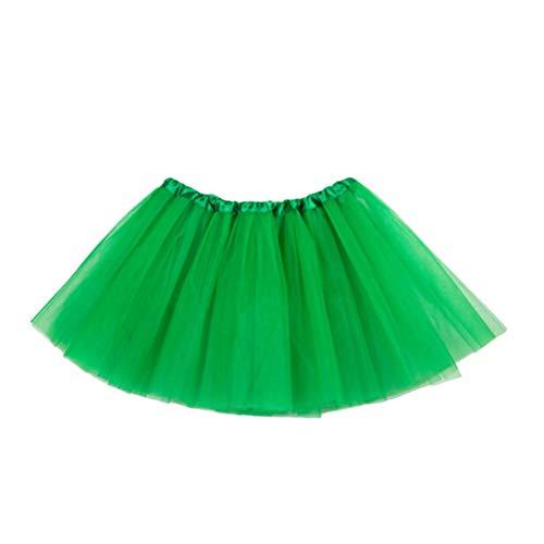 LUOEM 2 Unids Baby GirlS Layered Tul Tutu Falda Faldas Tutu Verde ...
