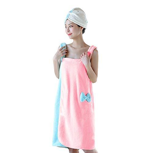Womens Plush Bathrobe with Straps Thick for Winter Velvet Ruffle Beach Spa Wrap Shower Bath Body Towel Quick Dry