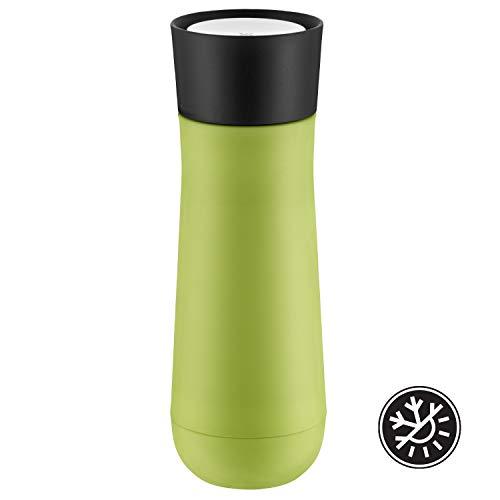 WMF Impulse Isolierbecher 350 ml, Thermobecher mit Automatikverschluss, 360°-Trinköffnung, hält Getränke 1-2h warm/kalt, grün
