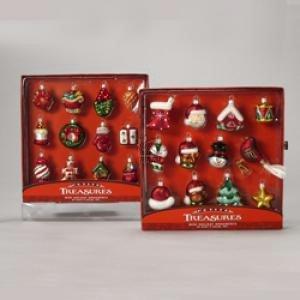 Kurt Adler Petite Treasures Miniature Glass Ornament 2 Sets of 12 Pieces