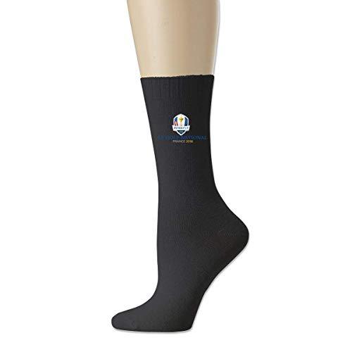 JONINOT Ryder Cup Le Golf National France 2018 Soporte reforzado para el arco del dedo del pie Calcetines Comfort Cool Crew L18cm