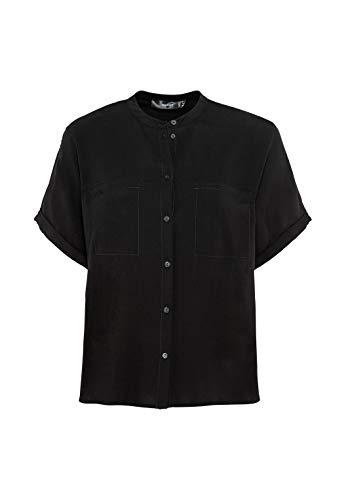 HALLHUBER Oversize-Bluse weit geschnitten schwarz, 36