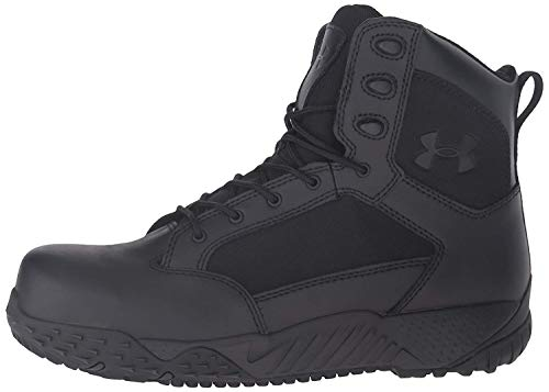 Under Armour Men's Stellar Protect Military and Tactical Boot, Black (001)/Black, 12