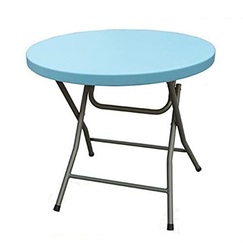 Mesa Plegable Mesa de comedor plegable redonda simple pequeña mesa redonda mesa de comedor doméstico mesa portátil al aire libre mesa de mesa combinación negociación redonda mesa redonda para Exterior