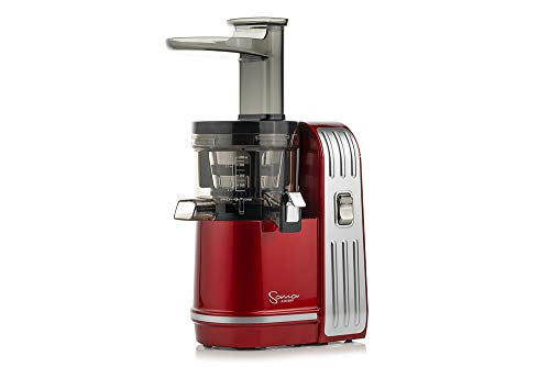 Sana Juicer EUJ-828 in Rot-Metallic - Vertikaler Slow Juicer