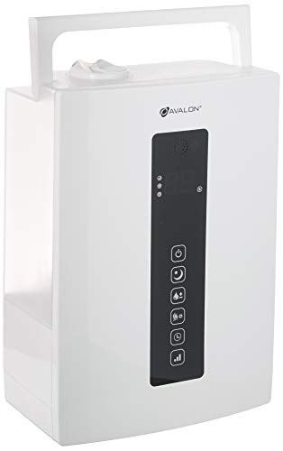 Avalon Premium 5 Liter Ultrasonic Digital Humidifier - Cool/Warm Mist, Adjustable Humidity Levels, Remote, Filter, Nightlight,with Pure Silent Technology, ETL Approved