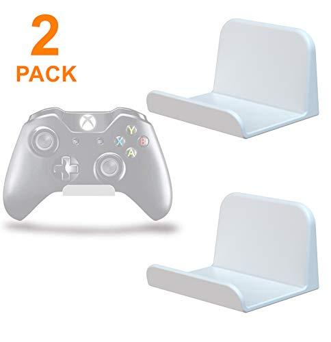 sciuU Wandhalterung für Kopfhörer / Controller, [2 Stück] Halter, Selbstklebende 3M Kleiderbügel, Universal Hook Zubehör für Gamepad auf XBox / PS4 / Nintendo, ohne Schrauben - Weiß